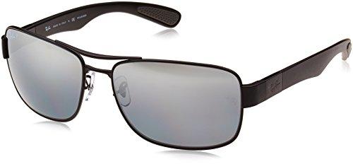 Ray-Ban Unisex Sonnenbrille Rb 3522, (Gestell: Schwarz, Gläser: Polarized Silber Verspiegelt 006/82), X-Large (Herstellergröße: 61)