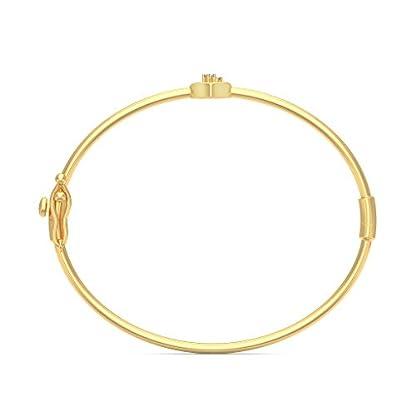 BlueStone 18k (750) Yellow Gold and Diamond Akira Oval Bangle