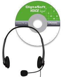 DigtaSoft Voice legal (PDD9432-72DE), professionelle Spracherkennung mit juristischem Fachvokabular und Digta Headset