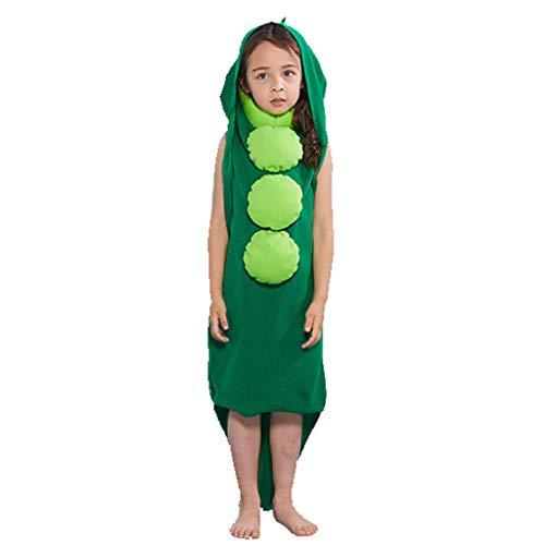 Red Leisure Kostüm Suit - Hupoop  Kinder Erbsen verbunden, um Kostüm Kinder Halloween-Kostüme zu Spielen, verbinden lustige Party-Kostüme Erbsen Spiel Kostüme (Mehrfarbig, S)