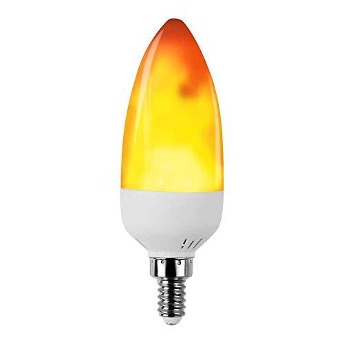 KDP LED Flamme Birne, E14 flimme Flamme Birne, 150 Lumens, 1300K wahre Feuer Farbe, Dekorative Lampe für Weihnachten, Halloween, Festival, Party, 1er-Pack