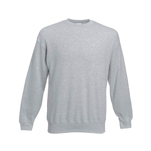 Fruit of the Loom Herren 62-202-0 Sweatshirt, grau meliert, XXXL