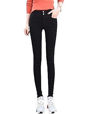 ShiFan Mujer Pitillo Elástico Pantalones Casual Cintura Alta Elegantes De Los Deportes Pantalones