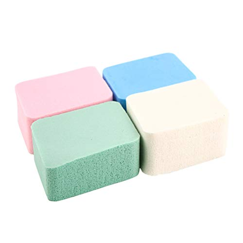 Lurrose 4Pcs Natural Sponge Vier-Farben-Diamant große kosmetische Körper Puff Face Powder -