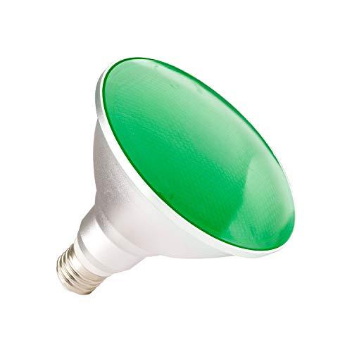 Lampadina LED E27 PAR38 15W Waterproof IP65 Luce Verde Verde