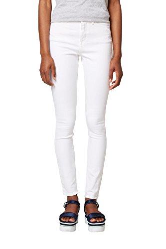 edc by ESPRIT Damen Skinny Jeans 038CC1B033, Weiß (White 100), 26/32