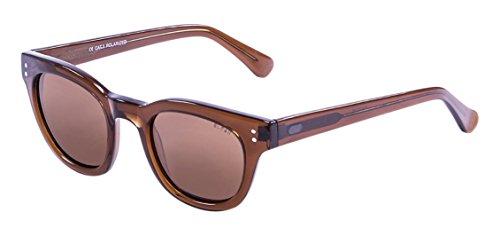 Ocean Sunglasses Santa Cruz, Occhiali da Sole, Colore: Marrone Trasparente/Marrone Lenti