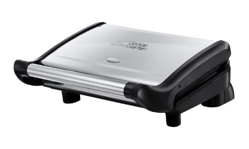 george-foreman-18296-silver-black-healthy-food-grill-family-5-portion-non-stick