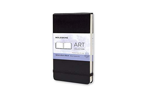 Moleskine Kreativ-Notizbücher, Aquarellbuch Pocket, Hardcover schwarz -