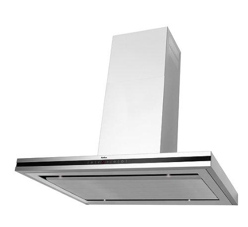 Amica IH 17190 E Kaminhaube / 90.0 cm / 800 m³ / Bedienung wählbar, Fernbedienung oder SensorTouch/Glaspaneel