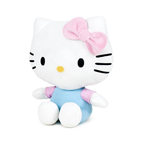 Hello Kitty - Hello Kitty Plush Toy with a Pink Bow with shiny ribbons (Soft Quality 24cm) - Shiny Ribbons -