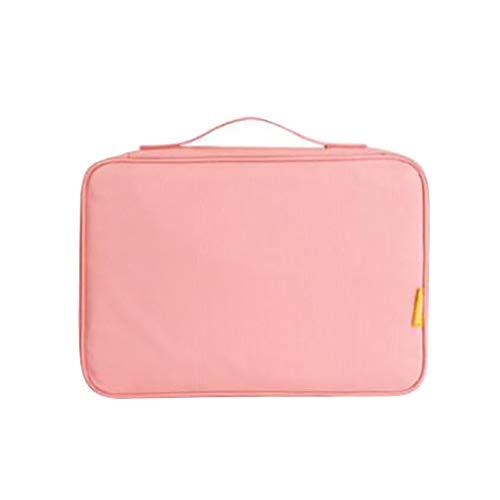 LLZIYAN Große Kapazität Zertifikat Aufbewahrungstasche Mit Reißverschluss Datei Organizer Tasche Für Mann Und Frauen, Rosa - Datei Zertifikate Für Die