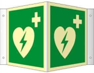 Winkelschild Automatisierter Externer Defibrillator Aed Highlight Pvc 20 X 20cm Mit 4 Bohrungen à 3 Mm Ø Leuchtdichte Highlight 48 Mcd M Gemäß Iso 7010 E010 Baumarkt