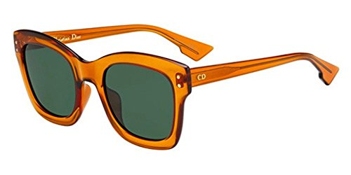 Christian dior diorizon2 qt l7q, occhiali da sole donna, arancione (orange/gn green), 51