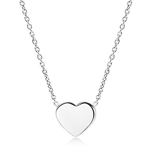 LENIRA Frauen Herz Halskette (Silber)