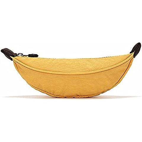Materiale Nylon creativo Banana studente cerniera borsa di matita leggero portatile ad alta qualità Multi purpose può essere lavato borsa di deposito della cancelleria studente