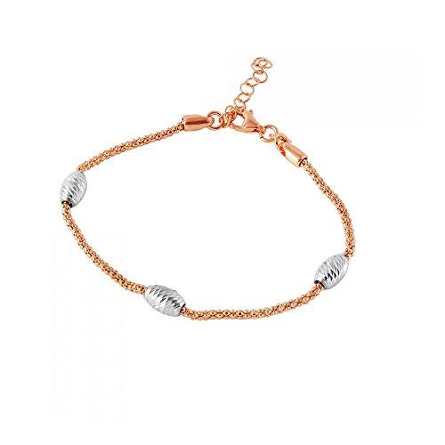 rose-bracelet-plaque-or-argent-sterling-chaine-pop-corn-italien-accents-perles-ovales