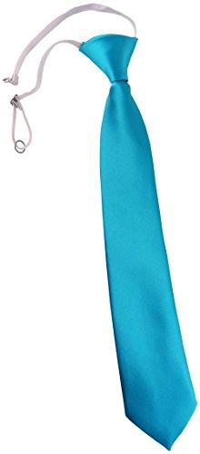 TigerTie Security Sicherheits Krawatte in türkis Uni einfarbig - vorgebunden Gummizug