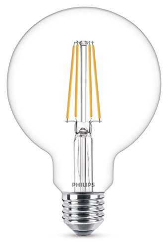 Philips Lampadina LED Globo, Attacco E27, 7 W Equivalenti a 60 W, 2700K
