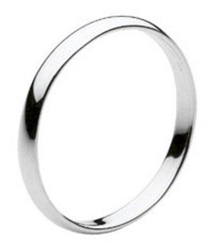 Dew - Anello in argento sterling con semplice