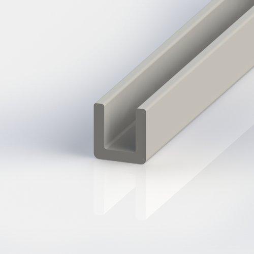 Thomafluid U-Profil aus glasfaserverstärktem Kunststoff (GFK), A: 40 mm, B: 20 mm, C: 4 mm, Länge: 1.000 mm