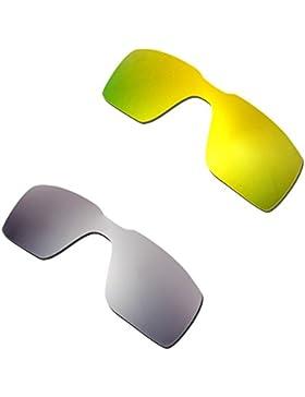 Hkuco Plus Mens Replacement Lenses For Oakley Probation 24K Gold/Titanium Sunglasses