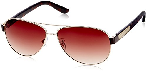 IDEE Aviator Sunglasses (IDS1851C3SG|100|Shiny Gold and Brown ) image