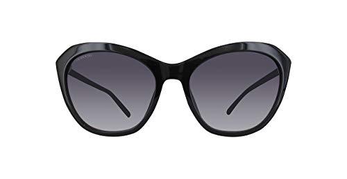 Swarovski sonnenbrille sk0143-01b-56 occhiali da sole, nero (schwarz), 56.0 donna