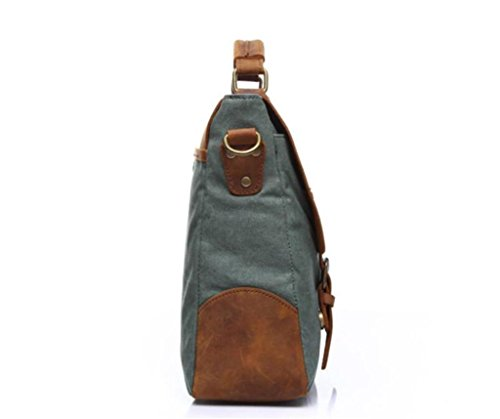 SHFANG Vintage Canvas Tasche / Mann Schultertasche / Umhängetasche, Handtasche, Aktentasche, Einkaufen / Arbeit / Reisen , coral blue coral blue