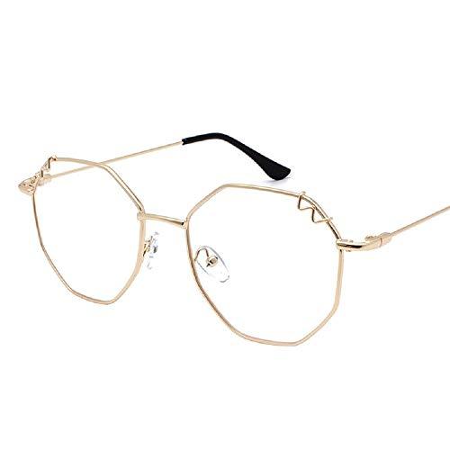 XWH Retro unregelmäßige Brille, Rahmen Rahmen, Japanisches weiches Mädchen Suyan Pingguang, Mode Dame Sonnenbrillen,4,cm