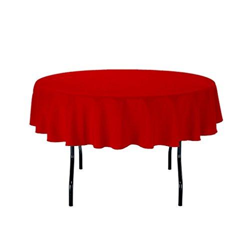 Royal Decor Supply 152,4cm rot rund Polyester Tischdecke für Hochzeit Party & Venue Dekoration rot (60-zoll-runde Tischdecke Rot)