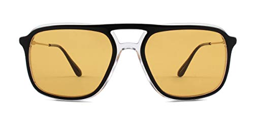 Ray-Ban Herren 0PR 06VS Sonnenbrille, Mehrfarbig (Top Black/Crystal), 54.0