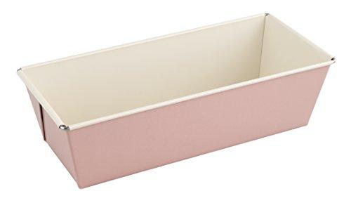 Dr. Oetker Kastenform 25 cm, Königskuchenform aus der Serie Modern Baking - Retro Design mit Zweifarbiger, keramisch verstärkter Premium-Antihaftbeschichtung (Farbe: Rosa/Creme), Menge: 1 Stück