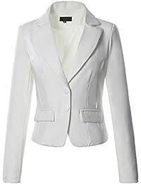 3ef7faa1f0fbb MCYs Femmes Double Bouton Tailleur Ajusté Blazer Veste Costume Casual  Business Soirée Revers Long Manches Manteau