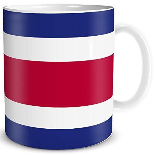 Tasse Flagge Costa Rica Länder Flaggen Geschenk Tassen Reise Souvenir für reiselustige Frauen Männer Weltenbummler