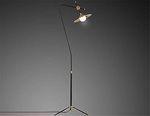 H&M LED Reading Floor Lamp - Dimmable Full Spectrum LED Light - Fully Adjustable Neck - 7 Watts -