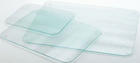 Completely Clear & Flat Float Glass Worktop Saver - 60 x 40cm by Cutting Edge Cookware