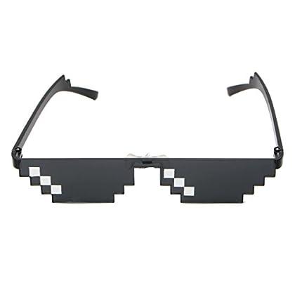 Miuson Cool - Gafas de sol con píxeles MLG (3 b...