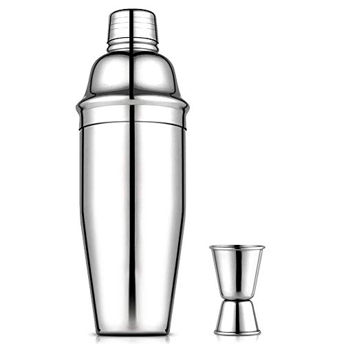 Cocktail-shaker (Vegena Cocktailshaker Set, Premium Bar Cocktailset Kit mit Messbecher, 750ML Professioneller Edelstahl Cocktail Shaker Martinishaker Schüttelbecher + Mixer mit Sieb)