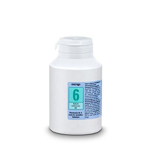 Schuessler Salz Nr. 6 Kalium sulfuricum D6 - 1000 Tabletten, glutenfrei