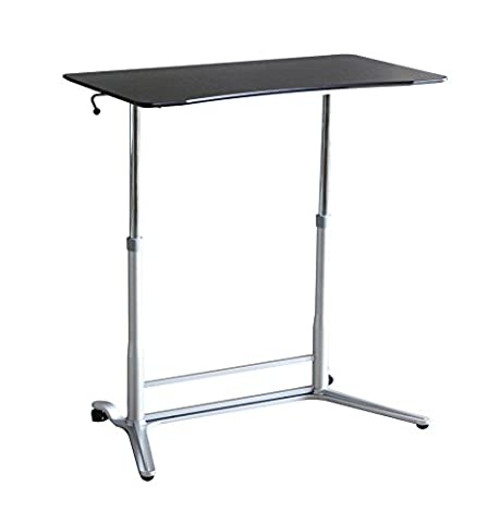 Ergoneer Affordable Height Adjustable Sit to Stand Workspace – Manually Height Controllable Standing Desk for Healthy Working – Movable Standing Workstation for Multiple Uses (Espresso)