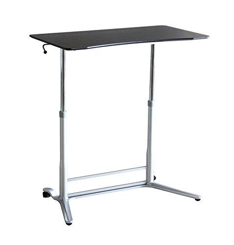 Ergoneer Hauteur abordable réglable Sit to Stand Espace de travail - manuellement Hauteur réglable bureau debout pour un travail sain - Station de travail mobile mobile pour plusieurs utilisations (Espresso)