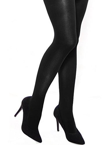 Donna Bella semi opaco 40denari Collant con tassello (Paula) Black 37 - XL