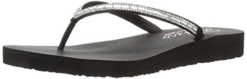Skechers , Womens Meditation Desert Princess, Blacksilver, 3 Uk (6 Us)