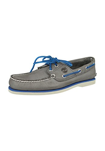 Timberland Classic Boat 2 Eye, Chaussures de Voile Homme, Bleu Grey
