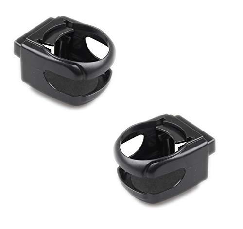 BAYLI 2er Set Auto- Dosenhalter | Cup Holder | Getränkehalter schwarz| Kaffeehalter für die Lüftung | Becherhalter | Auto Zubehör Innenraum Accessoires