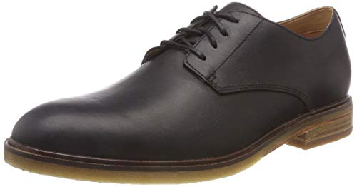 Clarks Herren Clarkdale Moon Derbys, Schwarz (Black Leather), 45 EU