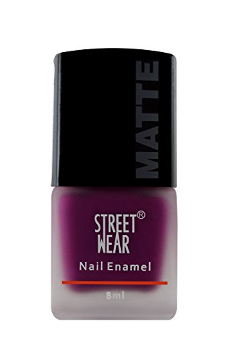 Street Wear Matte Nail Enamel, Berry Charm, 8ml