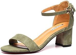 DALL Zapatos de tacón Ly-701 Áspero Talón Zapatos De Mujer Punta Abierta Tacones Sandalias Primavera Y Verano...