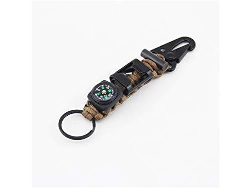 Plsonk Explorer Compass, Porte-clés Porte-clés en Alliage de Zinc Porte-clés pour Les Sports de Plein air (Marron) Outil de Navigation